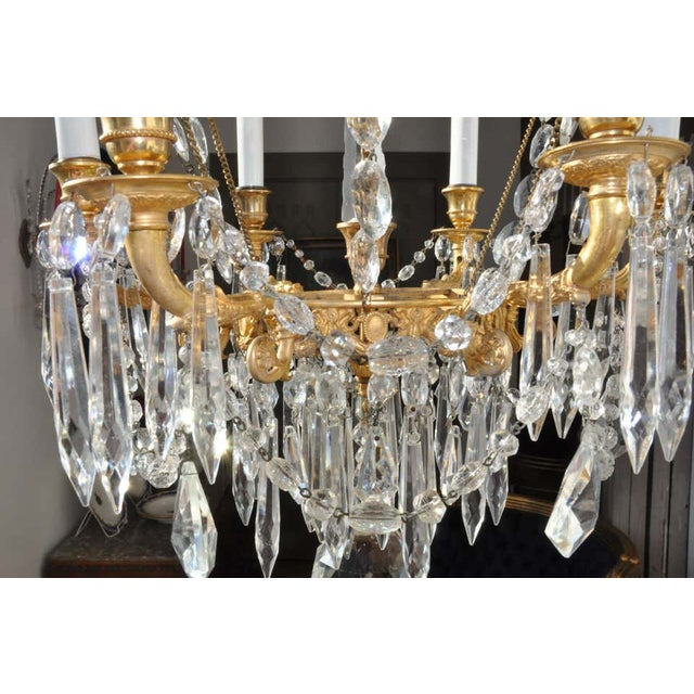 Montgolfier Ormolu and Crystal Hot Air Balloon Chandelier For Sale In Boston - Image 6 of 9