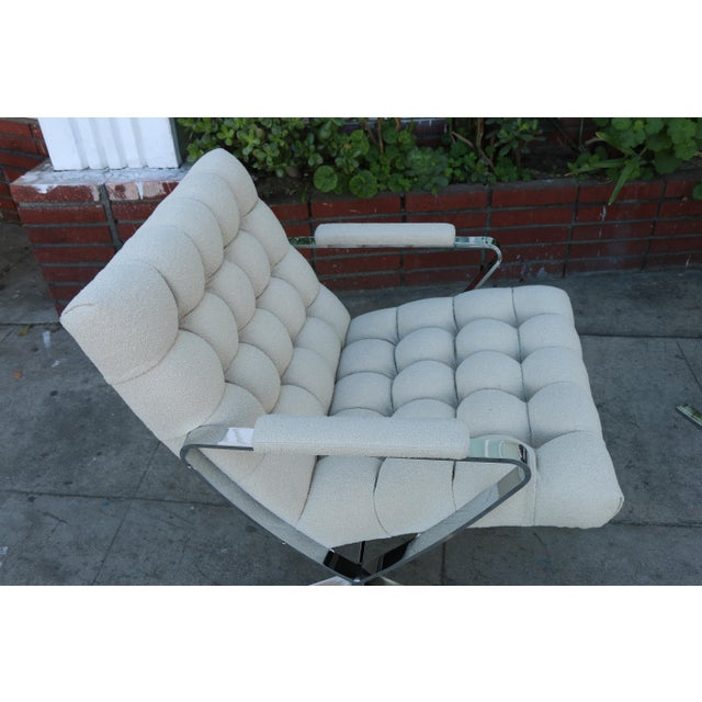 Steel Chrome Lounge Chairs inspired by Milo Baughman For Sale - Image 12 of 13