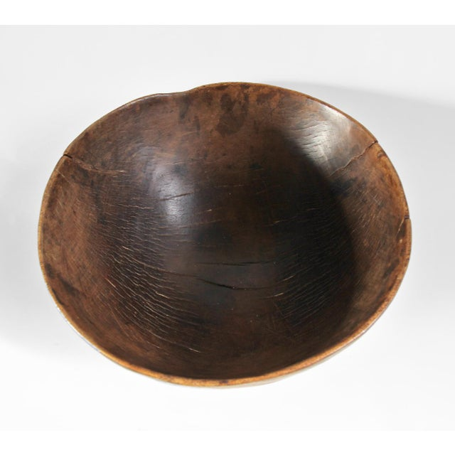 African Tuareg Wood Bowl For Sale - Image 3 of 3