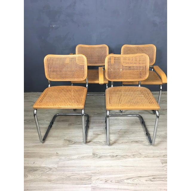 Italian Marcel Breuer Style Chairs - Set of 4 - Image 3 of 7