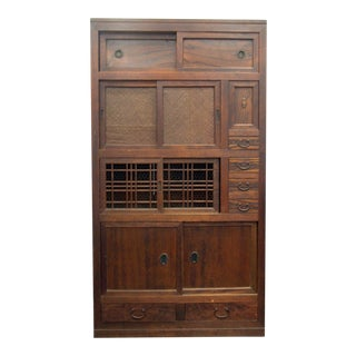 Antique Japanese Scholar's Tansu Cabinet