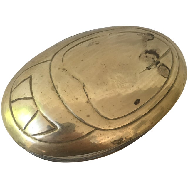 Vintage Brass Scarab Box - Image 1 of 5