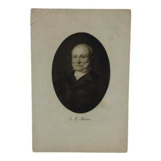 "Vintage Presidential Print on Paper ""J.A. Adams"" Circa 1900 For Sale"