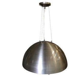 Kovacs Style Spun Aluminum Ceiling Pendant, Circa 1980 For Sale