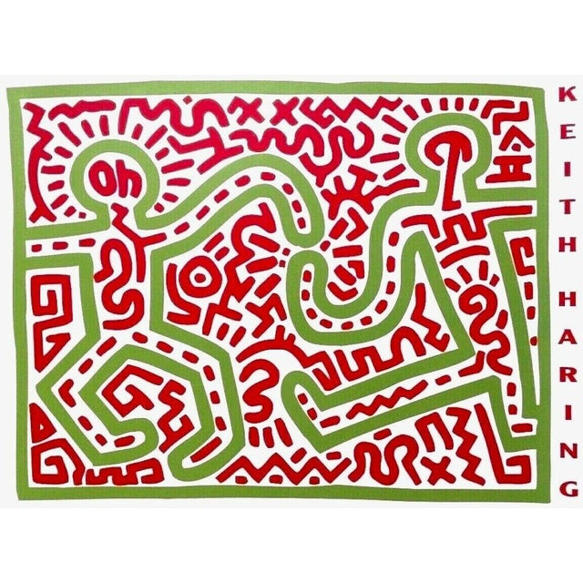 (after) Keith Haring Untitled, 1983 (Two Figures), Exhibition Poster 1983 For Sale