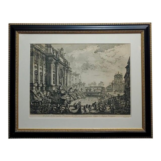 Giovanni Battista Piranesi -Veduta Della Fontana DI Trevi -18th Century Etching For Sale
