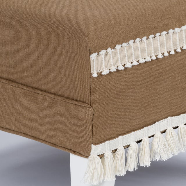 Brown Casa Cosima Sintra Chair in Hazel Linen, a Pair For Sale - Image 8 of 10