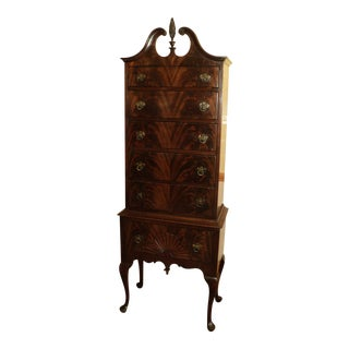 Antique Queen Anne Mahogany Highboy