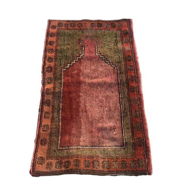 """Hand Made Vintage Small Turkish Runner- 2'1"""" X 4'5"""" For Sale - Image 10 of 10"""