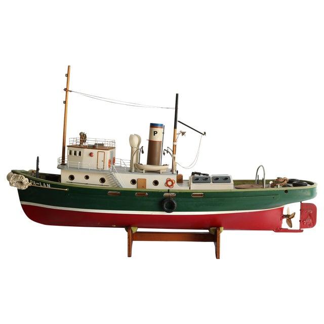 "1950s Artisan Carved Wood Boat Pa-Lan ""Cincinnati"" For Sale"