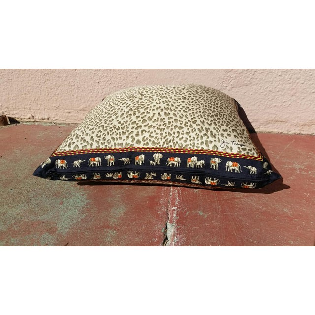 Jim Thompson Silk Leopard Pillow - Image 4 of 4