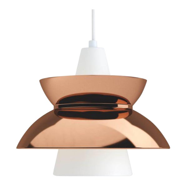 Danish Modern Jørn Utzon Copper 'Doo-Wop' Pendants for Louis Poulsen For Sale