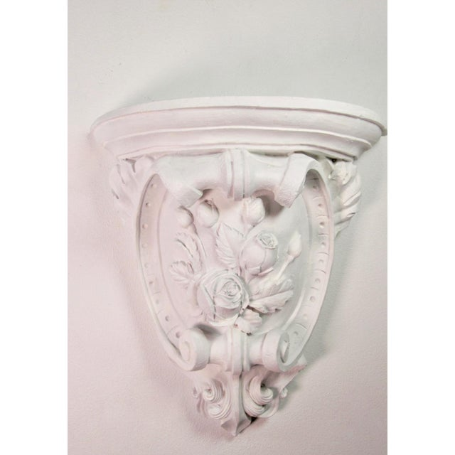 Late 19th Century Antique French Plaster Wall Shelves - a Pair For Sale - Image 5 of 9