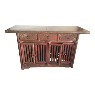 Vintage Chinoiserie Rustic Entertainment Unit
