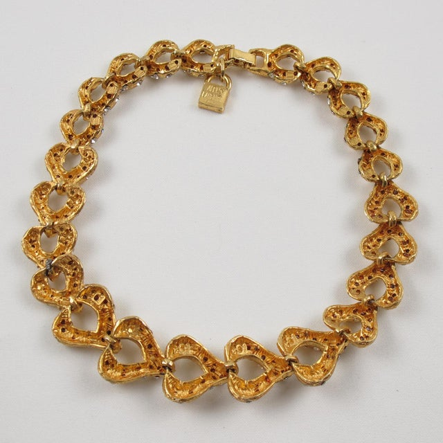 French Designer Alexis Lahellec Paris Signed Jeweled Choker Necklace For Sale In Atlanta - Image 6 of 8