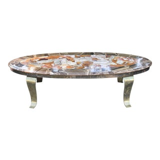 Arturo Pani Onyx & Brass Coffee Table