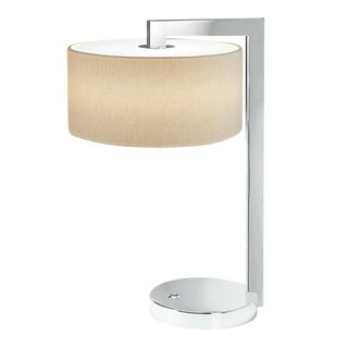 Chicago Polished Chrome Table Lamp With Shade For Sale