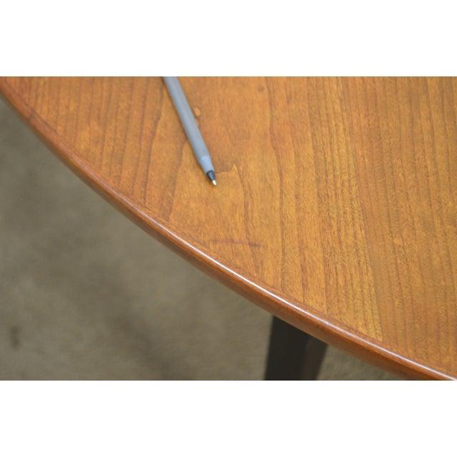 "Dunbar Edward Wormley Mid Century Modern 54"" Cherry & Walnut Dining Table (Opens 10 Feet) For Sale - Image 9 of 13"