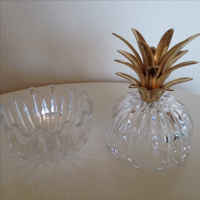 Vintage Glass and Brass Pineapple - Image 5 of 6
