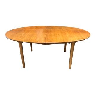 Mid-Century Hans J. Wegner Extendable Oval Table From Johannes Hansen For Sale