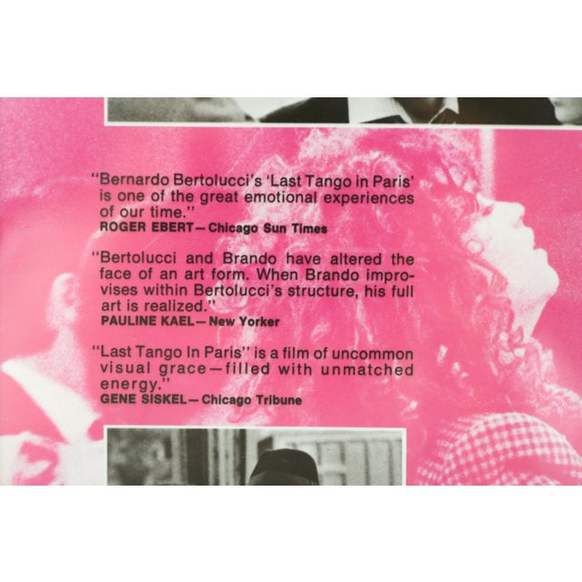 Last Tango in Paris, 1972 / Vintage Movie Advertisement Art Transparency For Sale In Los Angeles - Image 6 of 7