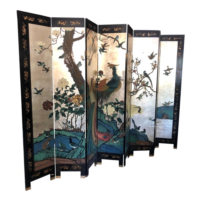 Early 20th Century 8-Panel Coromandel Screen For Sale