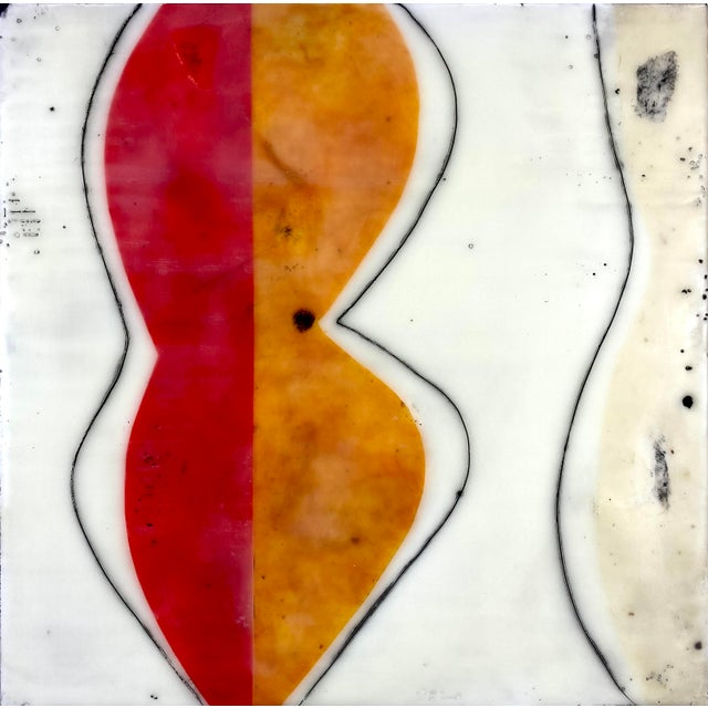 """2020s """"Bodies in Motion"""" Encaustic Collage by Gina Cochran - 16 Piece Installation For Sale - Image 5 of 13"""
