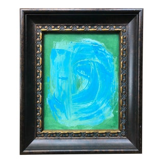 Green and Blue Abstract Painting by Tony Curry For Sale