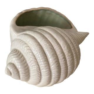 Mid-Century Shorter & Son Ltd Porcelain Sea Shell Vase For Sale