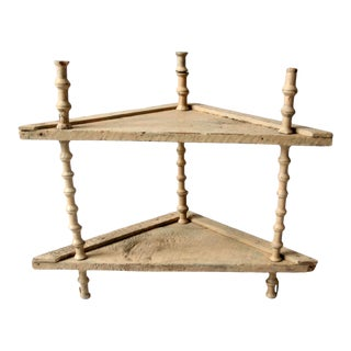 Antique Victorian Spool Folk Art Stand For Sale