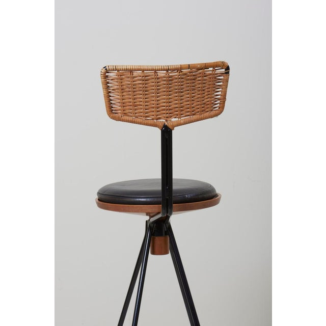 House Bar and Four Bar Stools by Prof. Herta-Maria Witzemann for Erwin Behr For Sale - Image 6 of 13