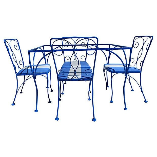 Mid Century Modern Iron Outdoor Set - Image 2 of 5