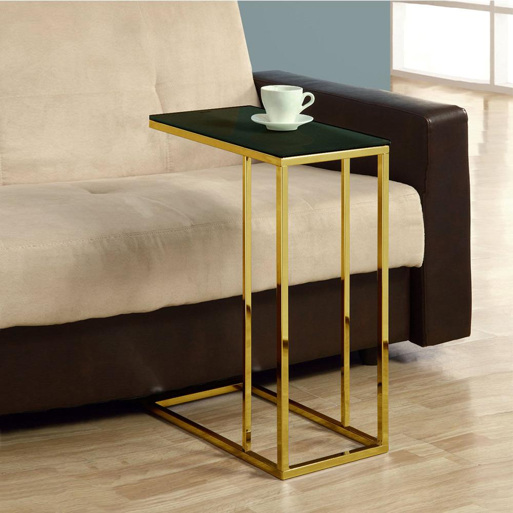 Contemporary Marko Marble Top Accent Table Living Room Side Table