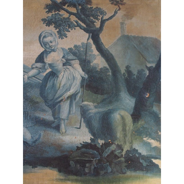 Mid 18th Century 18th Century French Grisaille Painting For Sale - Image 5 of 8