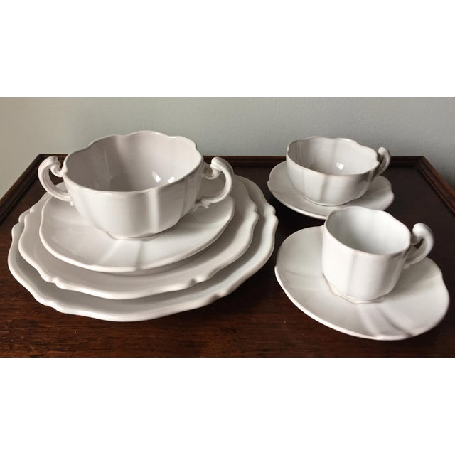 This simply fabulous and very rare set of dishes was made in 1951 for Rouard, Paris. by Motton de Gien. One owner only, 48...