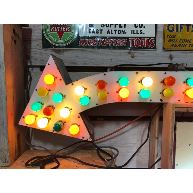 1930's Light Up Arrow Sign For Sale In Chicago - Image 6 of 8