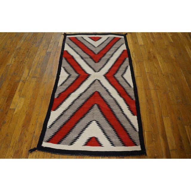 Native American Navajo Style Rug- 2′8″ × 5′ For Sale - Image 3 of 4