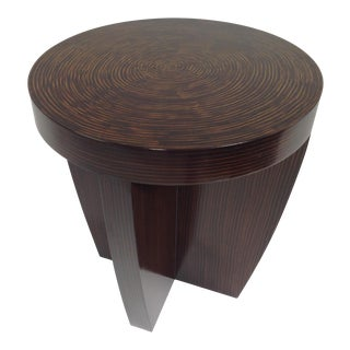 Modern End Table With Zembrano Finish For Sale