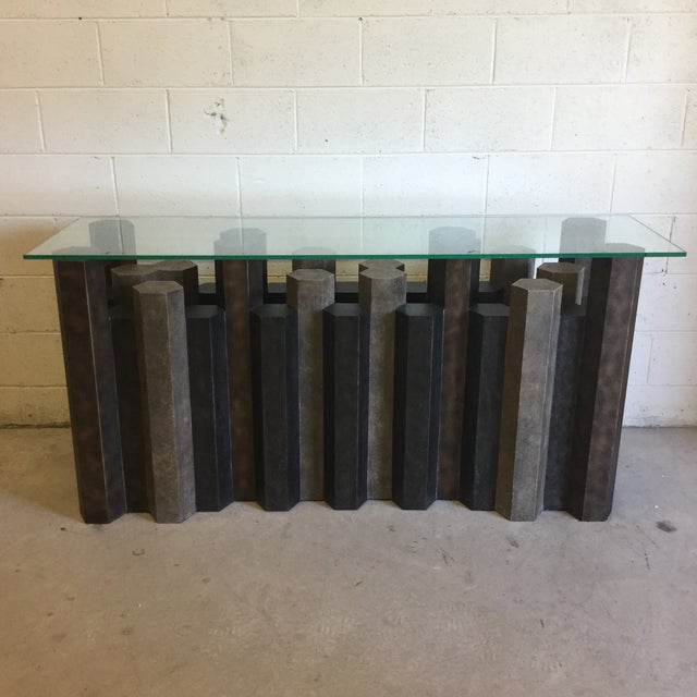 Brutalist Style Console Table For Sale - Image 12 of 12