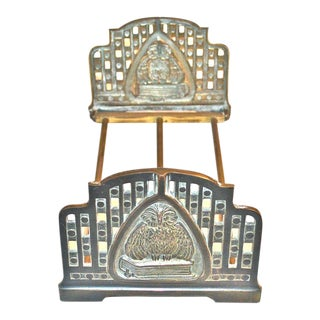 Judd Art Nouveau Wise Owl Book Rack 1920s For Sale
