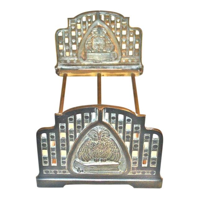 Judd Art Nouveau Wise Owl Book Rack 1920s For Sale