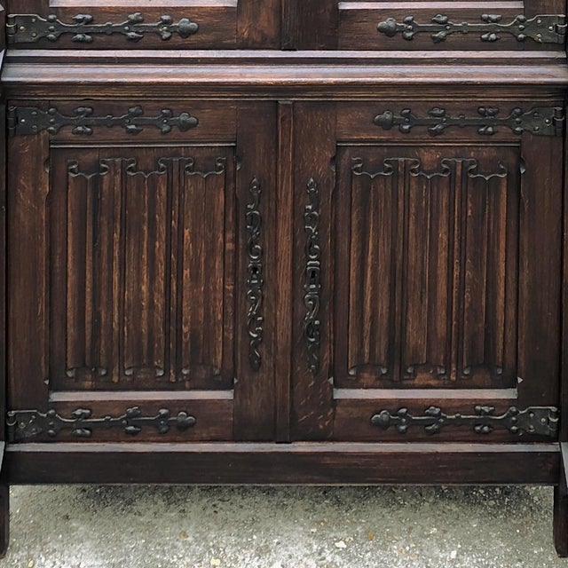 Antique French Gothic Cabinet For Sale - Image 10 of 12