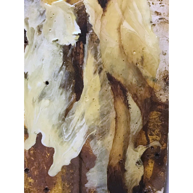 """""""White Root"""" Abstract Expressionist Painting by David Geiser For Sale - Image 9 of 13"""