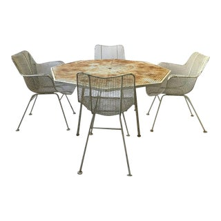 Sculptura Dining Set by Woodard, 1960s - Set of 5 For Sale