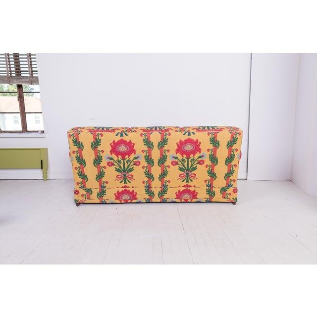 1980s Vintage Patterned Sofa For Sale - Image 4 of 8