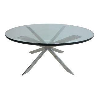 Mid Century Modern Leon Rosen Jaxs Base Chrome Atomic Coffee Table For Sale