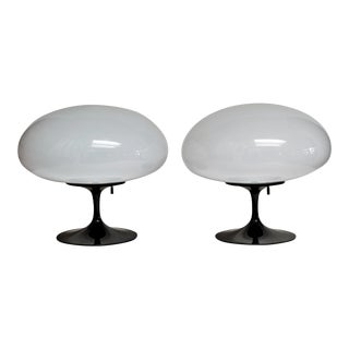 Mid-Century Bill Curry Mushroom Stemlite Lamps - a Pair