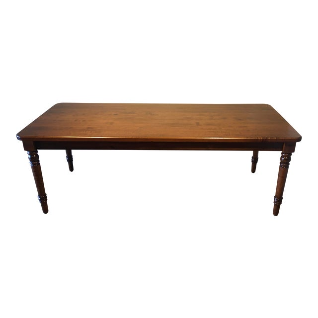 20th Century French Country Farmhouse Dining Table For Sale