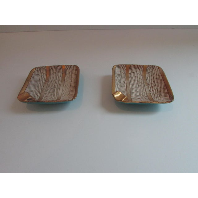 Rare Italian mid-century ashtrays in beautiful colors.