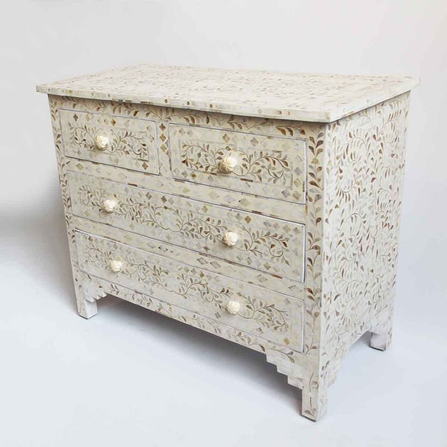 Anglo-Indian Mother of Pearl Inlay Dresser For Sale - Image 3 of 6